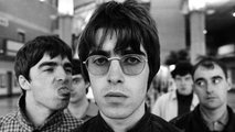 Oasis en sesion de fotos por el Whats The Story Morning Glory. La Tercera
