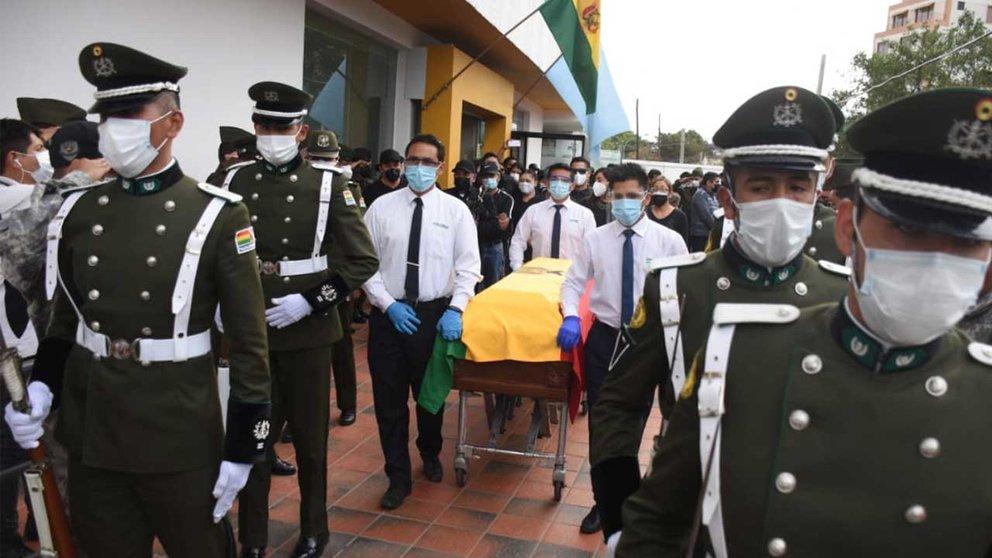 Fiscalía pedirá detención domiciliaria para el sargento que disparó el arma y acabó con la vida del capitán Arias. Foto: Noé Portugal