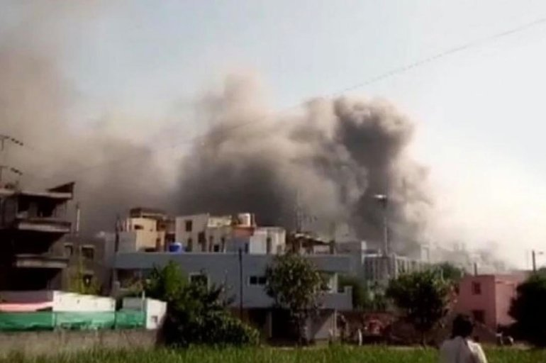 Incendio en el Serum Institute of India. Captura de video One India