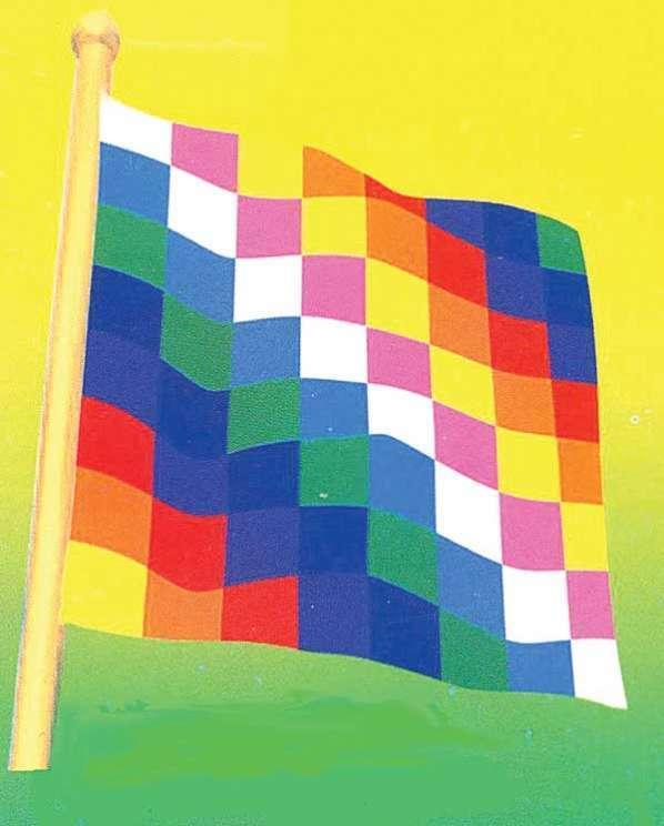 Cuales son los colores de la bandera wiphala