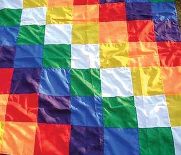Bandera de colores a cuadros