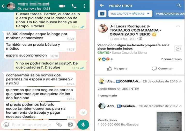 Venta De Riones Por Redes Es Libre Y Cuesta Hasta 15000