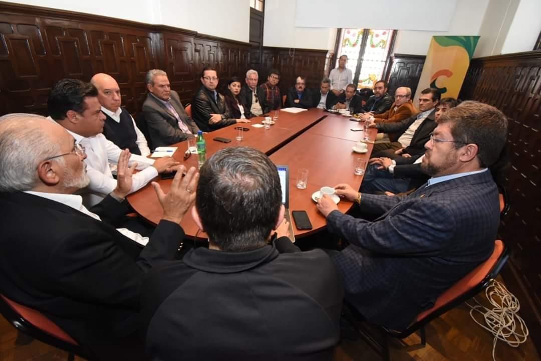 Reunión de la Coordinadora de Defensa de la Democracia.