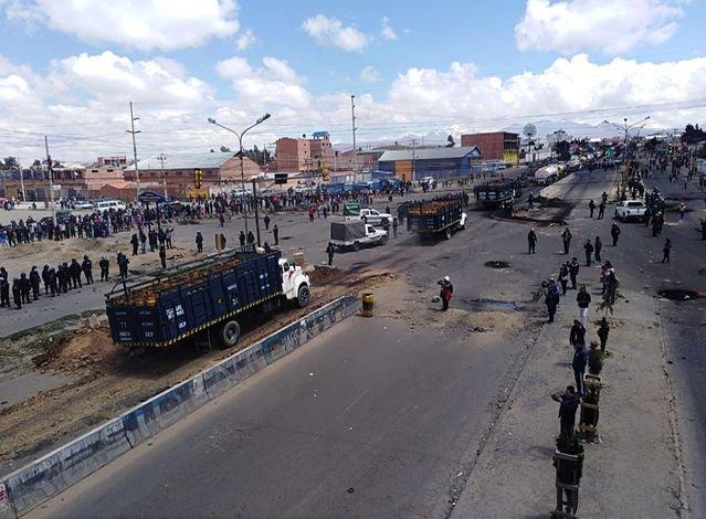 Resultado de imagen para senkata la paz, enfrentamientos
