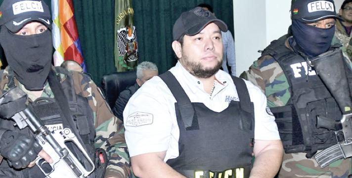 Pedro Montenegro tras su detención en Santa Cruz, en mayo/ARCHIVO