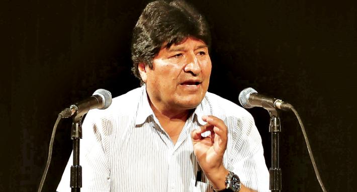 El expresidente, Evo Morales, durante una rueda de prensa en Argentina. EFE