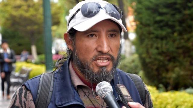 Asesor legal de las víctimas de Senkata, David Inca. OXÍGENO