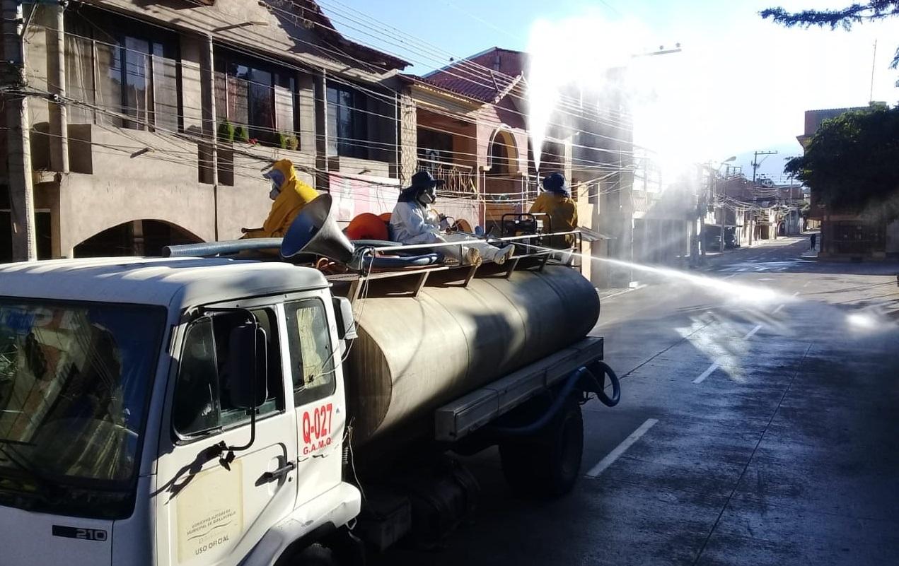 Alcaldia Elimina Vectores De Virus Hongos Y Bacterias Con Fumigaciones En Quillacollo Cochabamba Opinion Bolivia
