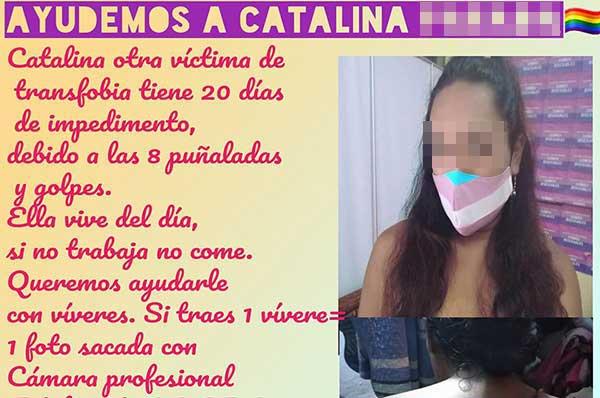 Una imagen de la campaña realizada en el Facebook en favor de la víctima. Captura de pantalla