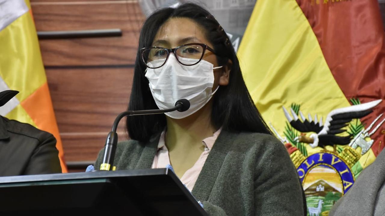 La presidenta del Senado, Eva Copa. APG