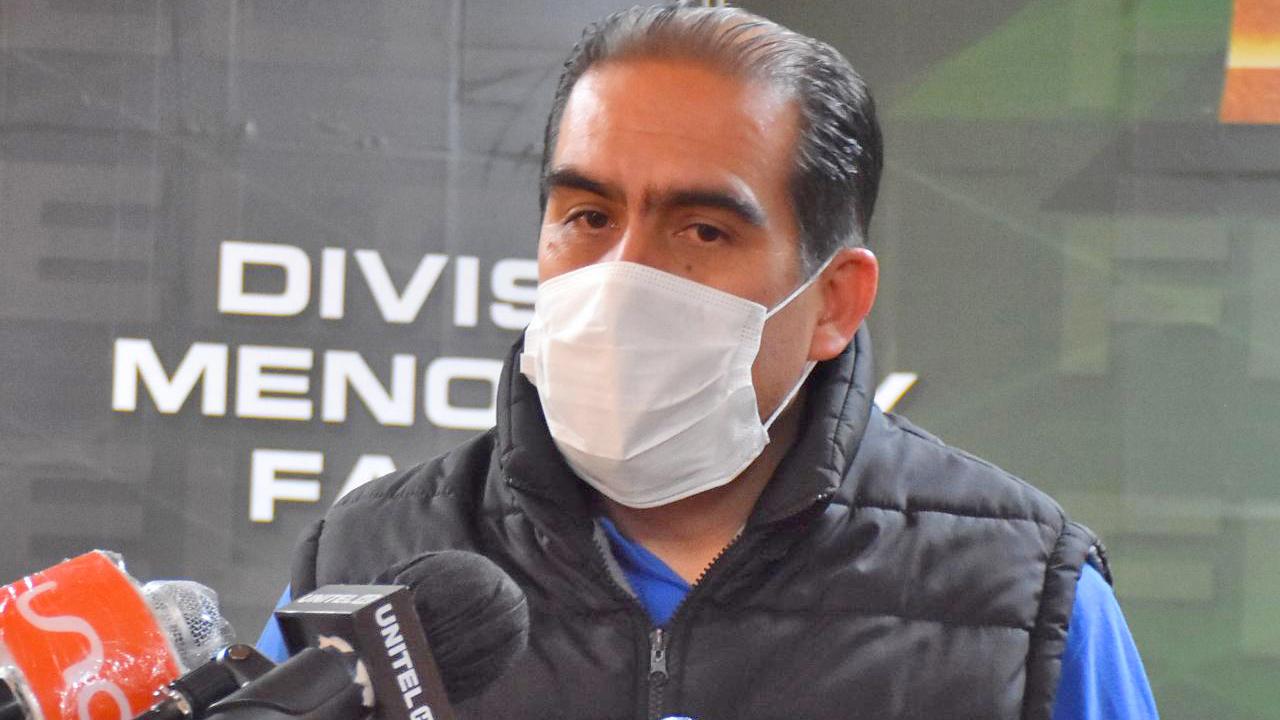 El empresario y exdirigente deportivo de Cochabamba, Luis Fernando Humérez tras su aprehensión. APG