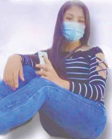 Zulma Alejandro, la estudiante de secundaria, que se encuentra internada. FACEBOOK
