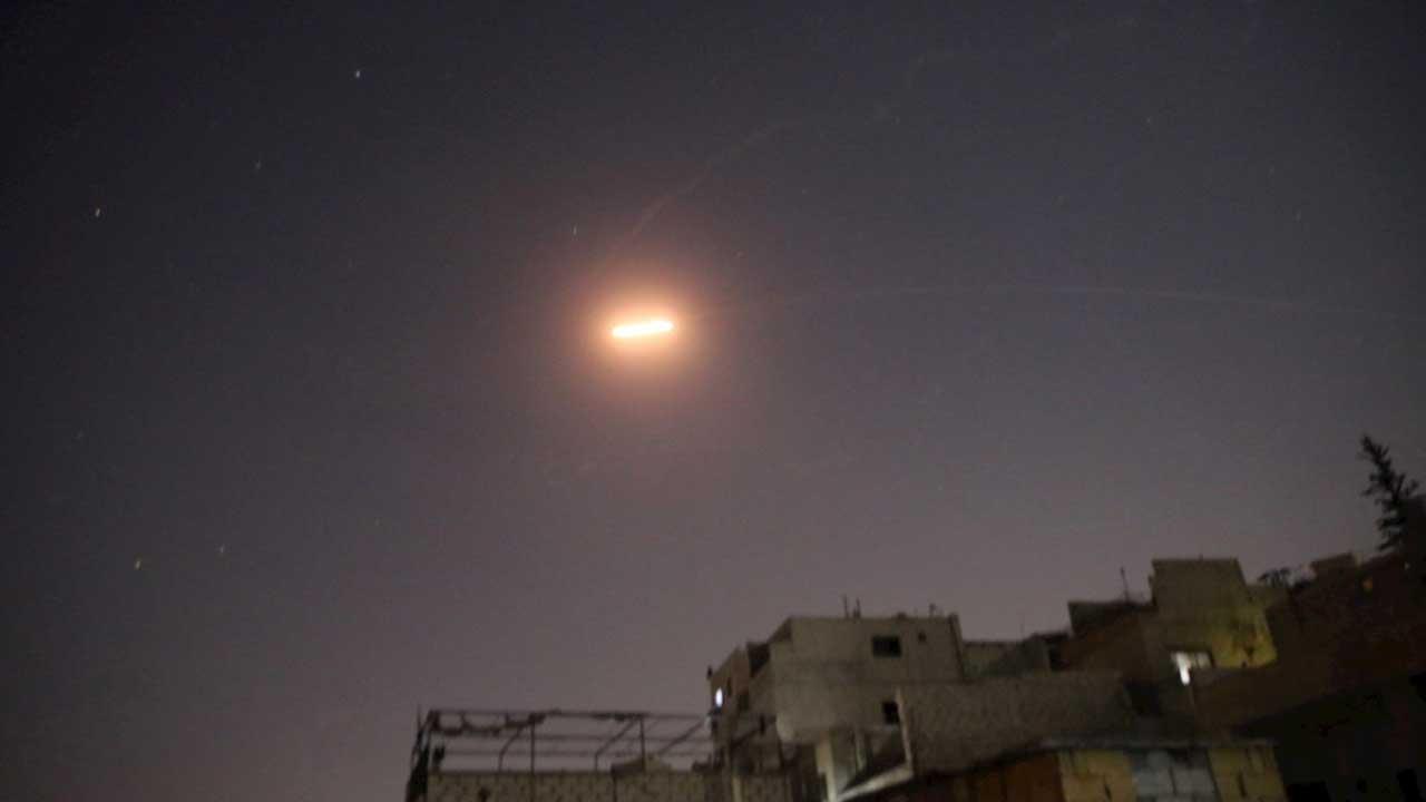 Air defences respond to Israeli strikes near Syrian capital
