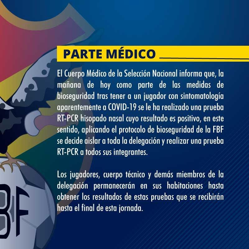 Parte médico de la FBF